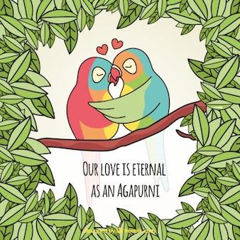 Nuestro amor es eterno como un agaporni