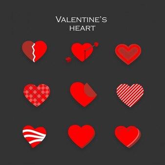 Nueve corazones para san valentín