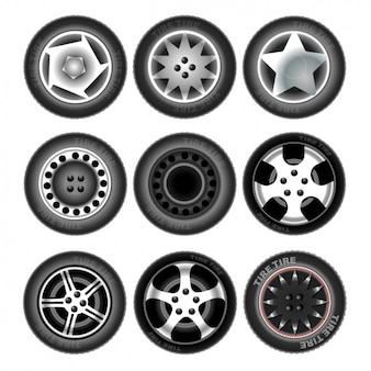 Nueve neumáticos