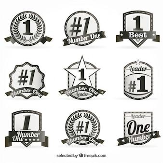 Número uno insignias