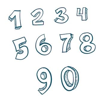 Números dibujados a mano