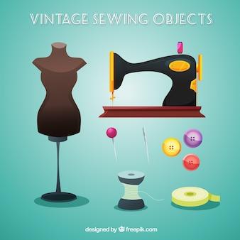 Objetos de costura de la vendimia