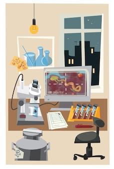 Objetos químicos y tubos ilustración vectorial