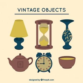 Objetos vintage de decoración