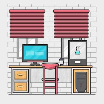Oficina plana moderna