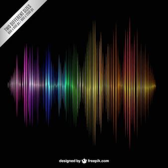 Onda de sonido colorido