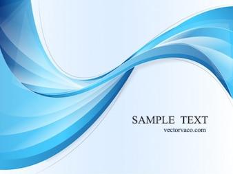 Ondulado abstracto atractivo fondo azul