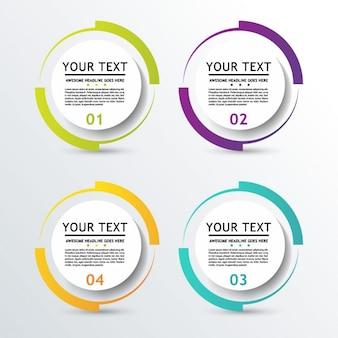 Opciones circulares 3d para infografía
