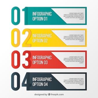 Opciones infográficas coloridas