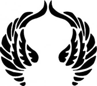 Orando diseño de las alas
