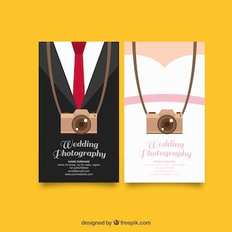 Originales tarjetas para la fotografía de bodas