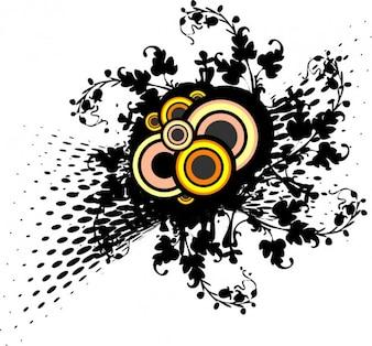 Ornamento y círculos floral