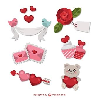 Ornamentos adorables para el día de San Valentín