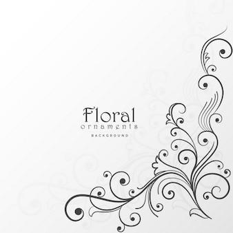 Ornamentos florales sobre fondo blanco
