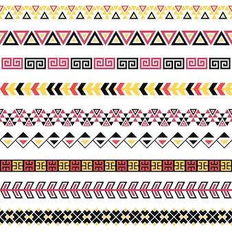 Ornamentos separadores coloridos