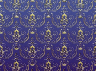 Oro antiguo patrón de adornos de fondo