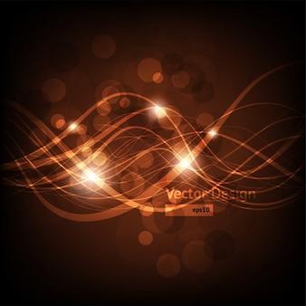 Oro fantasía movimiento concepto de iluminación