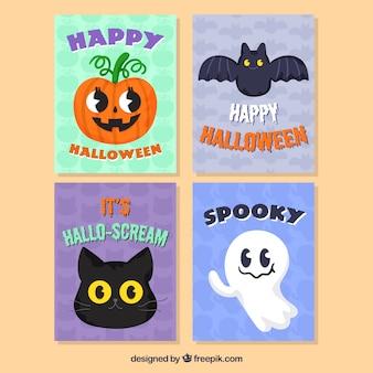 Pack adorable de tarjetas de halloween