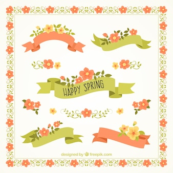 Pack bonito de cintas de primavera