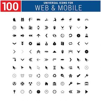 Pack de 100 iconos web