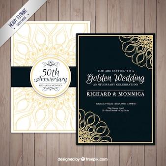 Pack de aniversario de boda de oro
