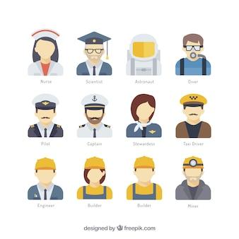 Pack de avatares de profesión