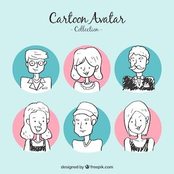 Pack de avatares dibujados a mano