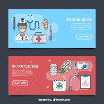 Pack de banners de cuidados médicos