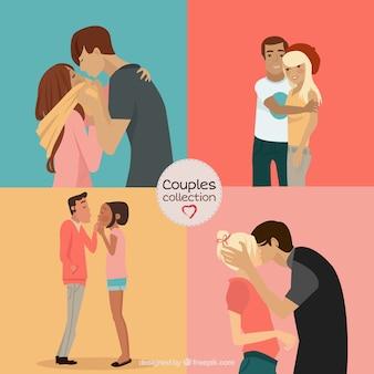 Pack de besos de parejas
