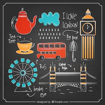 Pack de bocetos de elementos de Londres