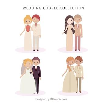 Pack de bonitas parejas de matrimonio