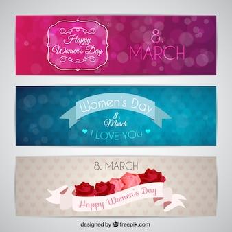 Pack de bonitos banners del día de la mujer