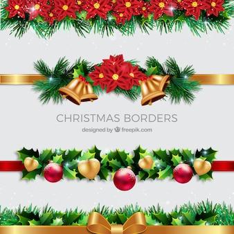 Pack de bordes decorativos de navidad