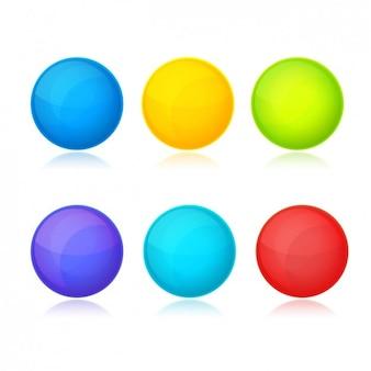 Pack de botones de colores