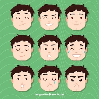 Pack de caras de emociones