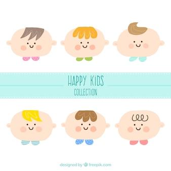 Pack de caras de niños adorables