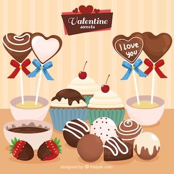 Pack de chocolates de valentín