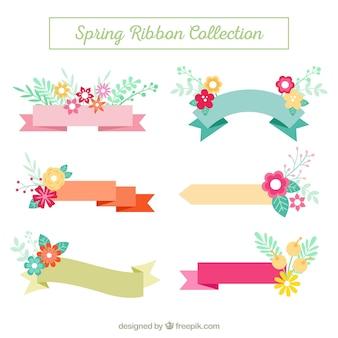 Pack de cintas con detalles florales