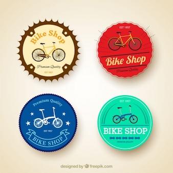 Pack de cuatro bicicletas vintage