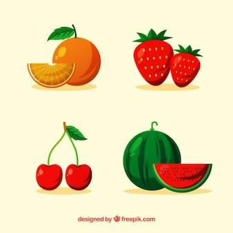 Pack de cuatro deliciosas frutas