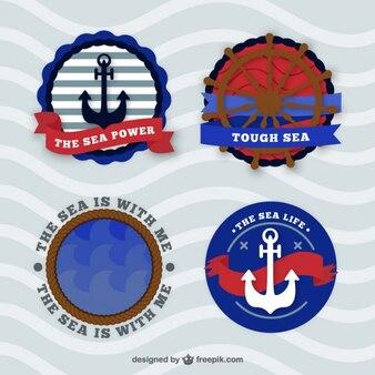 Pack de cuatro insignias marineras