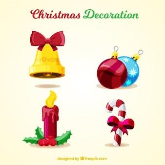 Pack de decoración colorida de navidad