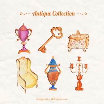 Pack de decoración vintage de acuarela