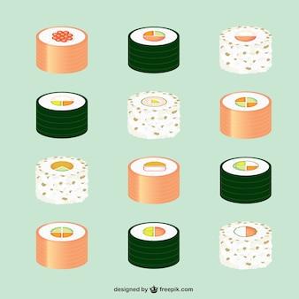 Pack de elementos de comida asiática