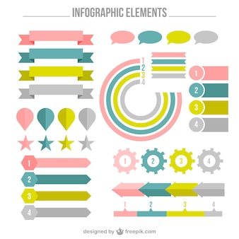 Pack de elementos infográficos fantásticos