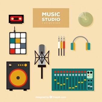 Pack de elementos necesarios para estudio de música