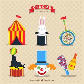 Pack de elementos simpáticos de circo