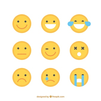 Pack de emoticonos amarillos