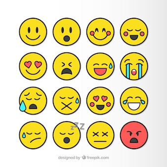 Pack de emoticonos planos