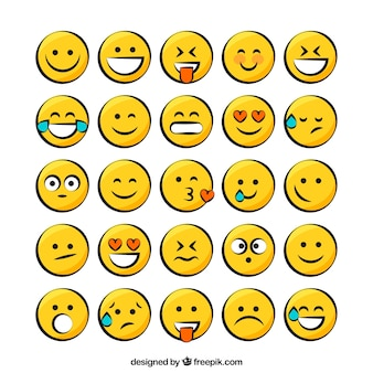Pack de emoticos amarillos